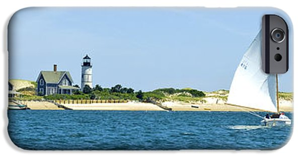 Sailing iPhone Cases - Sailing around Barnstable Harbor iPhone Case by Charles Harden