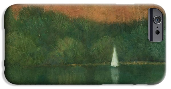 Sailing iPhone Cases - Sailing at Trelissick iPhone Case by Steve Mitchell