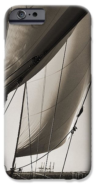 Yachting iPhone Cases - Sailing Beneteau 49 Sloop iPhone Case by Dustin K Ryan