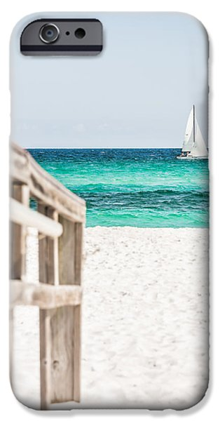Shade Cover iPhone Cases - Sailing By iPhone Case by Shelby  Young