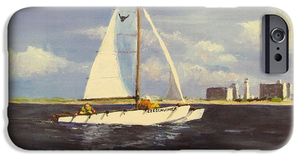 Jack Skinner Paintings iPhone Cases - Sailing in the Netherlands iPhone Case by Jack Skinner