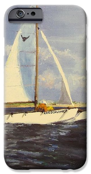 Sailing in the Netherlands iPhone Case by Jack Skinner