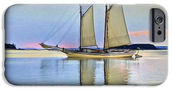 Sailing iPhone Cases - Sailing Sailin Away yay yay yay iPhone Case by  Fli Art