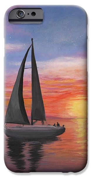 Sailboats iPhone Cases - Sailing iPhone Case by Scott Cupstid