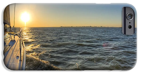 Sailboat iPhone Cases - Sailing Sunset iPhone Case by Dustin K Ryan