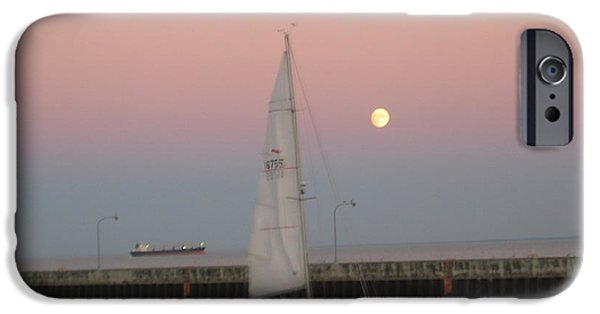 Boat iPhone Cases - Sailing at Sunset iPhone Case by Herb Walfoort
