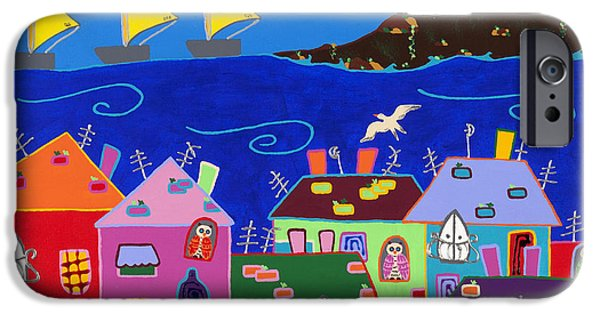 Sea Birds iPhone Cases - Sailing iPhone Case by Tamara Kusovac
