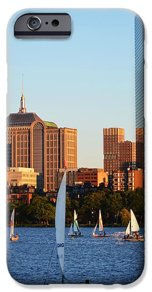 Boston Ma iPhone Cases - Sailing the Charles River Boston MA iPhone Case by Toby McGuire