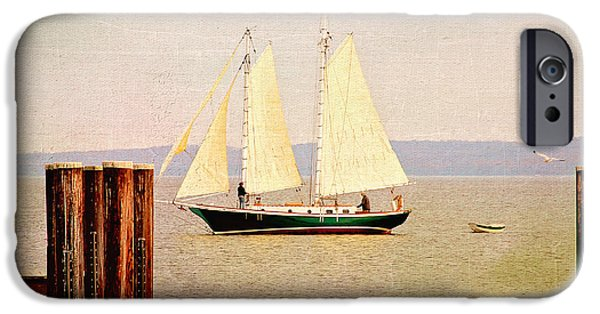 Sailboats iPhone Cases - Sailing  iPhone Case by Trina  Ansel