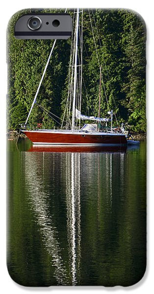 Sailboats iPhone Cases - Sailing Vessel Liz iPhone Case by Bob VonDrachek