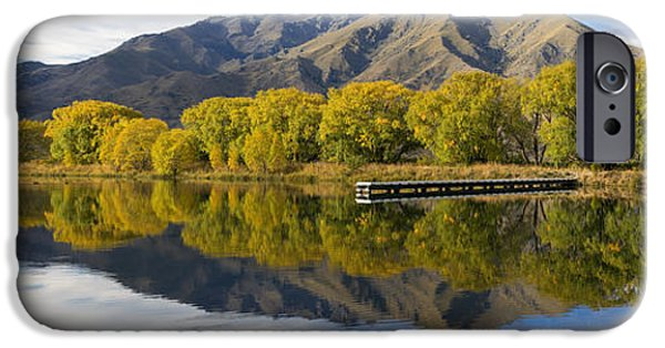 Willow Lake iPhone Cases - Sailors Cutting Lake Benmore iPhone Case by Robert Green