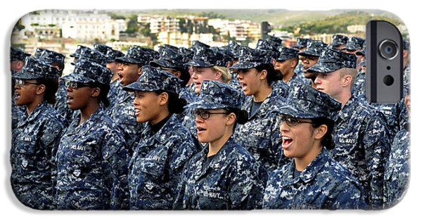 Adults Only iPhone Cases - Sailors Yell Before An All-hands Call iPhone Case by Stocktrek Images