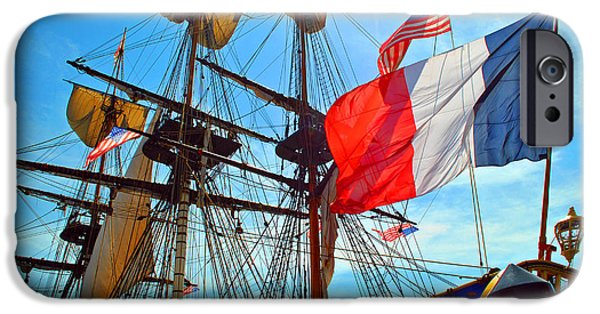 Pirate Ship iPhone Cases - Sails of France iPhone Case by Jost Houk