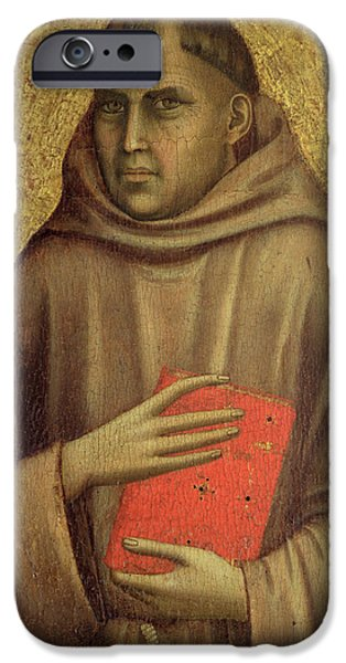 Thebes iPhone Cases - Saint Anthony Abbot iPhone Case by Giotto di Bondone