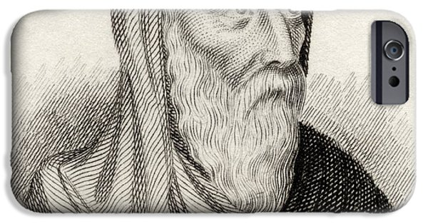 Pope Drawings iPhone Cases - Saint Athanasius Of Alexandria Born iPhone Case by Ken Welsh