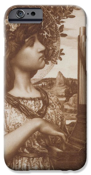 Piano Drawings iPhone Cases - Saint Cecilia iPhone Case by Henry Ryland