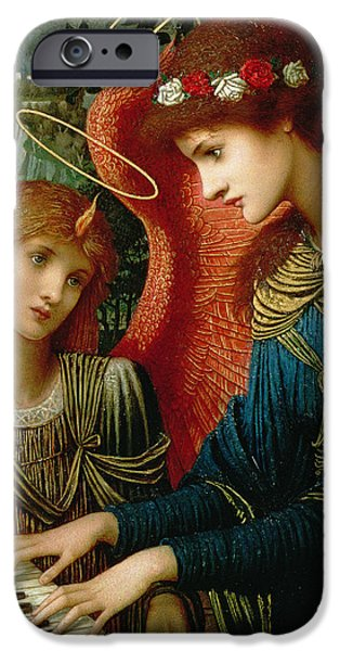 Pre-raphaelites iPhone Cases - Saint Cecilia iPhone Case by John Melhuish Strukdwic