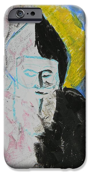 Religious Drawings iPhone Cases - Saint Charbel iPhone Case by Marwan George Khoury