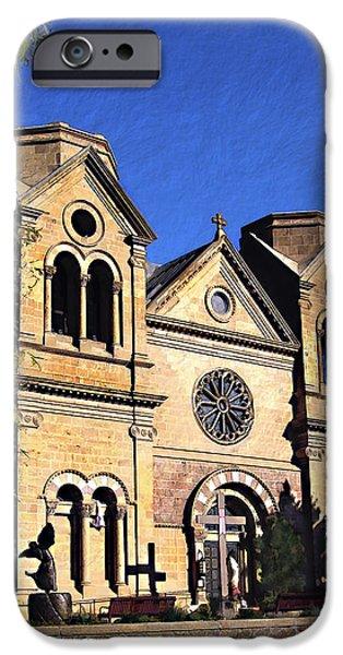 Saint Francis Cathedral Santa Fe iPhone Case by Kurt Van Wagner