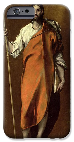 Pilgrims iPhone Cases - Saint James the Greater iPhone Case by El Greco