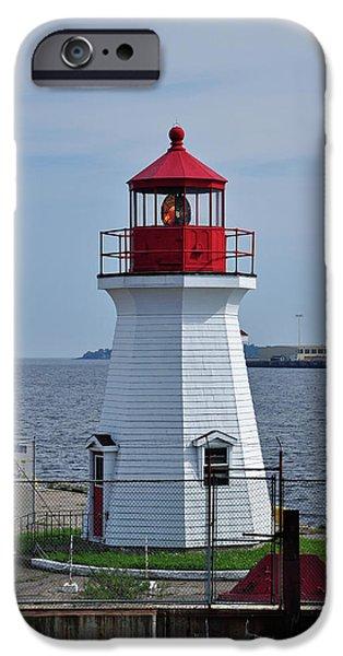 Lighthouse iPhone Cases - Saint John Lighthouse iPhone Case by Glenn Gordon