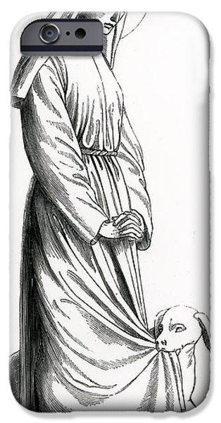 Saint Hope iPhone Cases - Saint Margaret of Cortona iPhone Case by French School