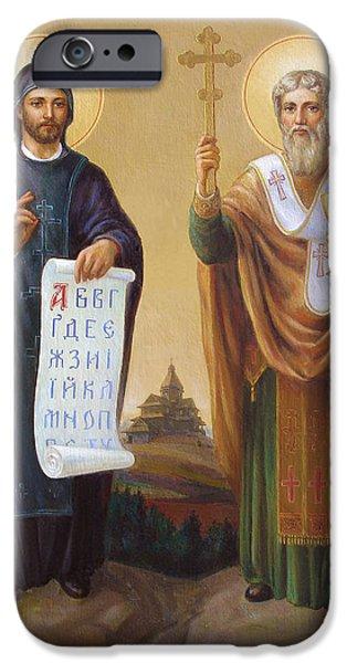 Saints Cyril And Methodius - Missionaries to the Slavs iPhone Case by Svitozar Nenyuk