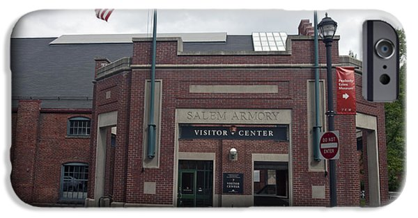 American Flag iPhone Cases - Salem Armory and Visitors Center iPhone Case by Jason O Watson