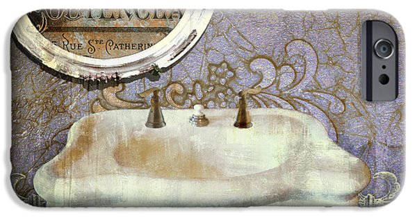 Sink iPhone Cases - Salle de Bain IV iPhone Case by Mindy Sommers