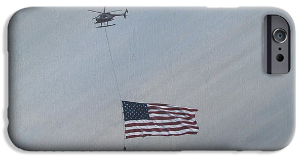 4th July Paintings iPhone Cases - Salute iPhone Case by Lance Bifoss