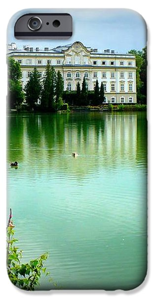 Salzburg Home with Lake iPhone Case by Carol Groenen