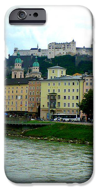 Salzburg over the Danube iPhone Case by Carol Groenen