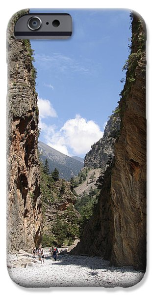 Attraction iPhone Cases - Samaria Gorge iPhone Case by Jane Rix