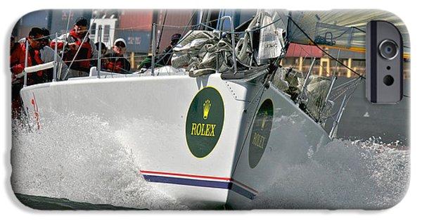 Boat iPhone Cases - Samba Pa Ti Rolex Regatta iPhone Case by Steven Lapkin
