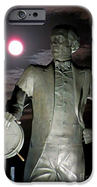 Statue Portrait iPhone Cases - Samuel Cunard iPhone Case by John Malone