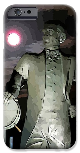 Statue Portrait iPhone Cases - Samuel Cunard Views the Full Moon iPhone Case by John Malone