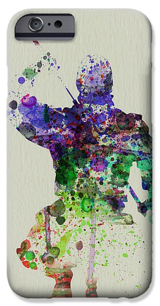 Costume iPhone Cases - Samurai iPhone Case by Naxart Studio