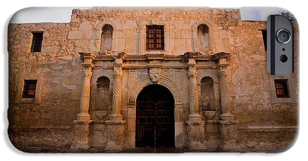 Ruins iPhone Cases - San Antonio Alamo at Sunrise iPhone Case by Samuel Kessler