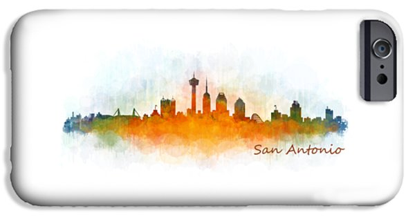 Bullis iPhone Cases - San Antonio City Skyline Hq v3 iPhone Case by HQ Photo