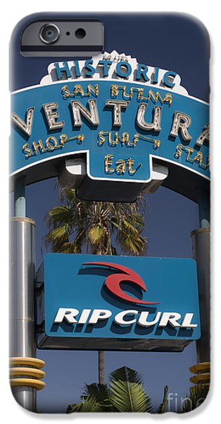 Ventura California iPhone Cases - San Buena Ventura iPhone Case by David Bearden