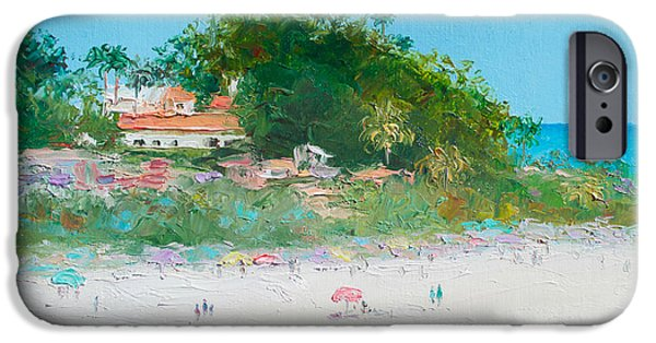 Tree Art Print iPhone Cases - San Clemente Beach Art  iPhone Case by Jan Matson