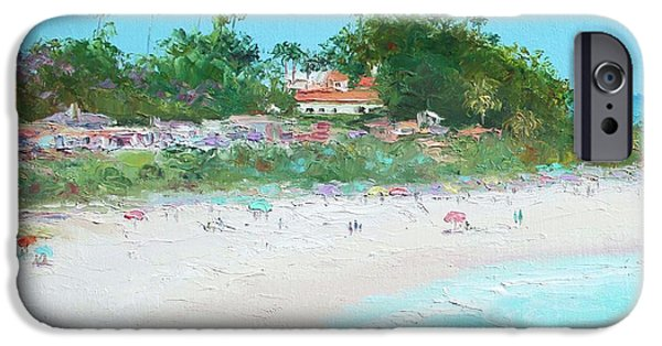 Clemente Paintings iPhone Cases - San Clemente Beach California iPhone Case by Jan Matson