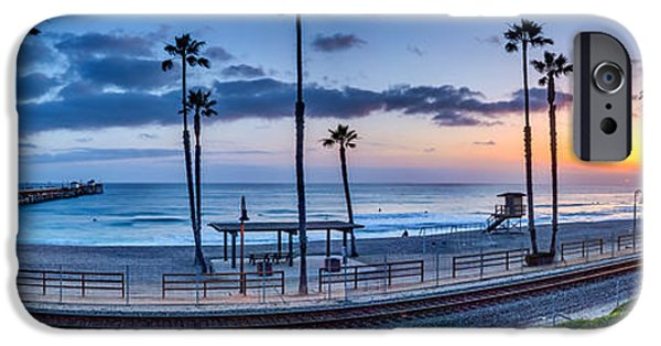 Clemente iPhone Cases - San Clemente in Pano iPhone Case by Peter Tellone