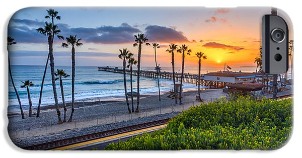 Clemente iPhone Cases - San Clemente iPhone Case by Peter Tellone