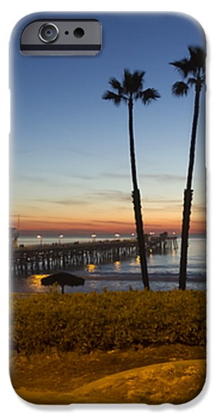 San Clemente Pier at Sunset iPhone Case by Barbara Eads