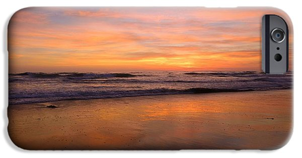 Beach iPhone Cases - San Diego Sunset iPhone Case by John Tsumas