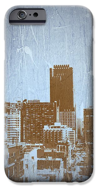 San Francisco Street iPhone Cases - San Francisco 2 iPhone Case by Naxart Studio