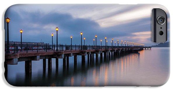 Bay Bridge iPhone Cases - San Francisco Blue Dawn iPhone Case by Jonathan Nguyen