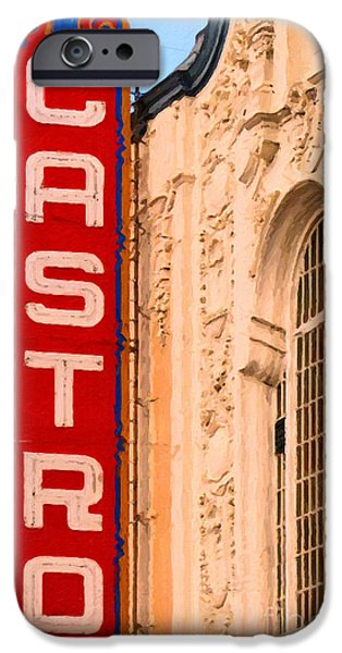 House Art iPhone Cases - San Francisco Castro Theater iPhone Case by Wingsdomain Art and Photography