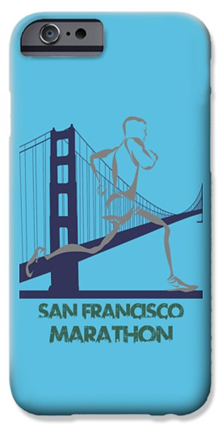 City. Boston iPhone Cases - San Francisco Marathon2 iPhone Case by Joe Hamilton